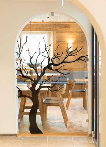 Baumdiagram Innenansicht vom Restaurant